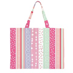 Pink colored sparkled wood Zipper Large Tote Bag