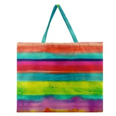 Painted paper  Zipper Large Tote Bag