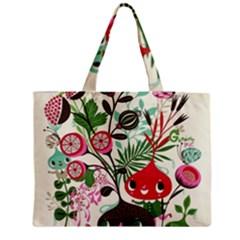 Cute flower cartoon  characters  Medium Tote Bag