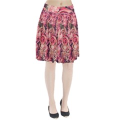 Beautiful pink roses  Pleated Skirt