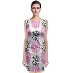 Cute pink pineapple  Classic Sleeveless Midi Dress