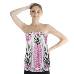 Cute pink pineapple  Strapless Top