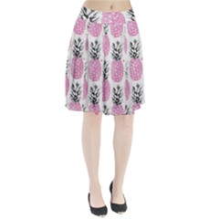 Cute pink pineapple  Pleated Skirt