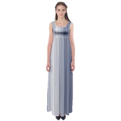 Gray Line Empire Waist Maxi Dress