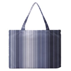 Gray Line Medium Zipper Tote Bag