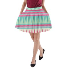 Lovely pink bohemian A-Line Pocket Skirt