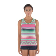 Lovely pink bohemian Women s Sport Tank Top