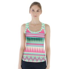 Lovely pink bohemian Racer Back Sports Top