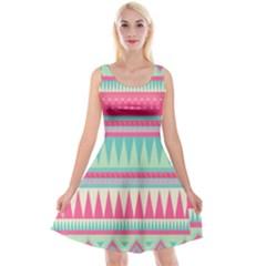 Lovely Pink Bohemian Reversible Velvet Sleeveless Dress