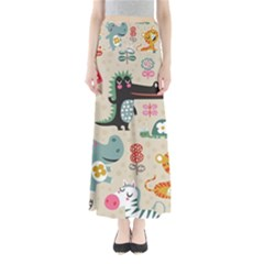 Cute cartoon animals Maxi Skirts