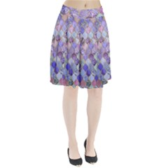 Blue moroccan mosaic Pleated Skirt