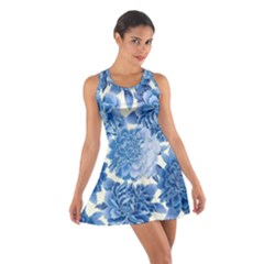 Blue flowers Cotton Racerback Dress