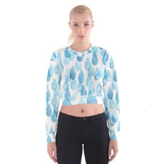 Rain drops Women s Cropped Sweatshirt