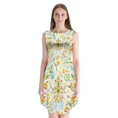Pastel flowers Sleeveless Chiffon Dress