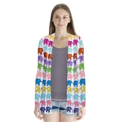 Colorful small elephants Cardigans
