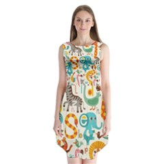 Cute cartoon animals Sleeveless Chiffon Dress