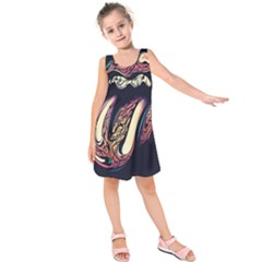 The rolling stones glowing Kids  Sleeveless Dress