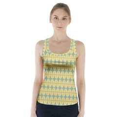 Green Yellow Racer Back Sports Top