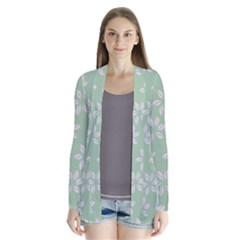 Pink Flowers On Light Green Cardigans