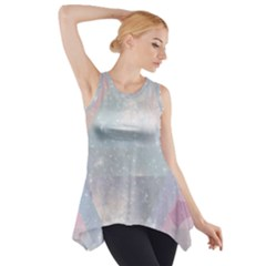 Pastel colored crystal Side Drop Tank Tunic