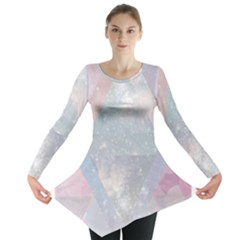 Pastel colored crystal Long Sleeve Tunic