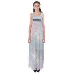 Pastel colored crystal Empire Waist Maxi Dress