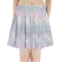 Pastel colored crystal Pleated Mini Skirt