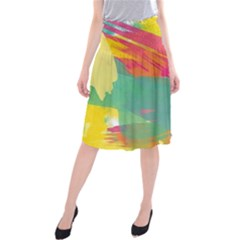 Paint brush Midi Beach Skirt