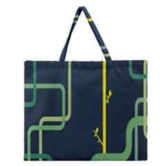 Plumbing Zipper Large Tote Bag