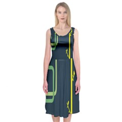 Plumbing Midi Sleeveless Dress