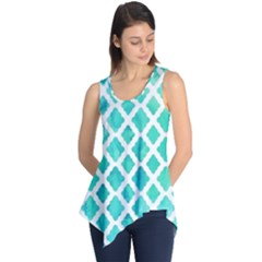 Blue mosaic Sleeveless Tunic