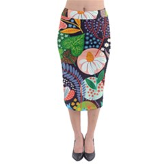 Japanese inspired  Midi Pencil Skirt