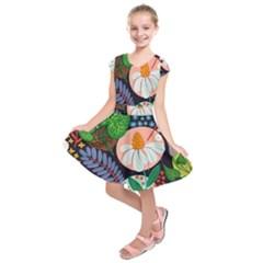 Japanese inspired  Kids  Short Sleeve Dress