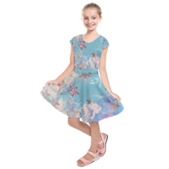 Pastel stars Kids  Short Sleeve Dress