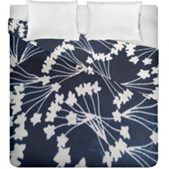 Flower Blue Jpeg Duvet Cover Double Side (king Size)