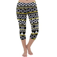 Black bohemian Capri Yoga Leggings