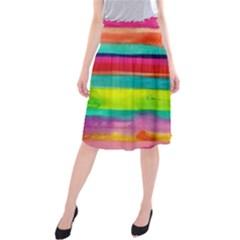 Painted wet  paper Midi Beach Skirt
