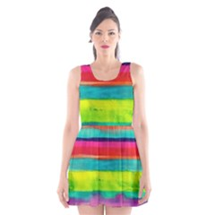 Painted wet  paper Scoop Neck Skater Dress