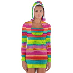 Painted wet  paper Women s Long Sleeve Hooded T-shirt