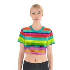 Painted wet  paper Cotton Crop Top