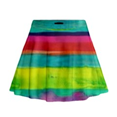 Painted wet  paper Mini Flare Skirt