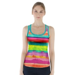 Painted wet  paper Racer Back Sports Top