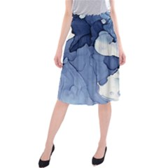 Paint in water Midi Beach Skirt