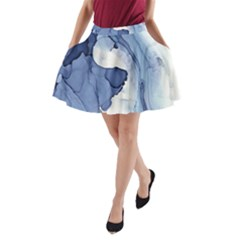 Paint in water A-Line Pocket Skirt