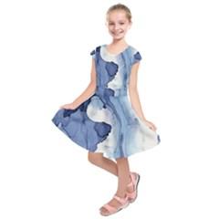 Paint In Water Kids  Short Sleeve Dress