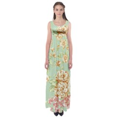 Vintage pastel flowers Empire Waist Maxi Dress