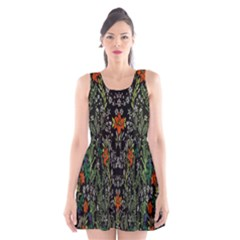Detail Of The Collection s Floral Pattern Scoop Neck Skater Dress