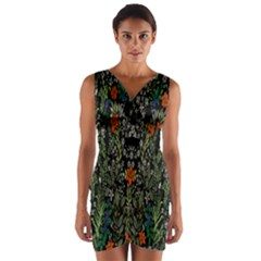 Detail Of The Collection s Floral Pattern Wrap Front Bodycon Dress