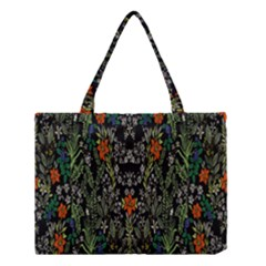 Detail Of The Collection s Floral Pattern Medium Tote Bag