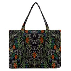 Detail Of The Collection s Floral Pattern Medium Zipper Tote Bag